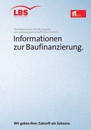 Informationen zur Baufinanzierung. - LBS