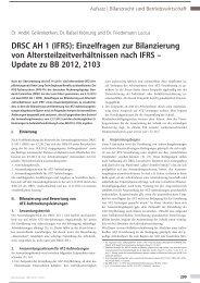 DRSC AH 1 (IFRS): Einzelfragen zur Bilanzierung von ... - Aon