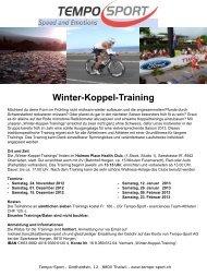 Winter-Koppel-Training - Tempo-Sport