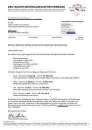 DEUTSCHER GEHÖRLOSEN-SPORTVERBAND - Bayerischer ...