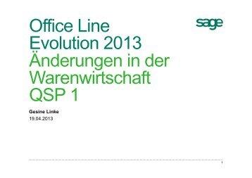Neuerungen Office Line Evolution 2013 Warenwirtschaft