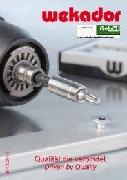 Katalog für Schraubeinsätze ANZEIGEN (Download) - GeZet ...