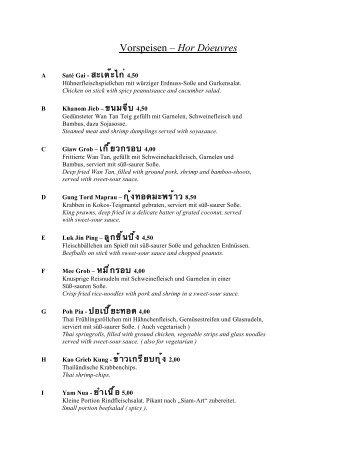 download Menuekarte - Bangkok Restaurant