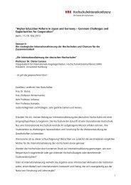 Speech Prof. Lenzen - Hochschulrektorenkonferenz