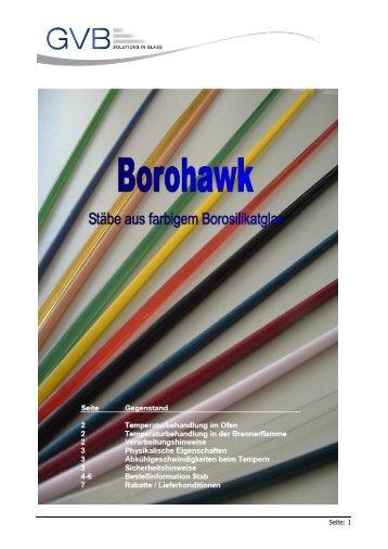 Produktinformation & Preise Stäbe & Granulate - GVB