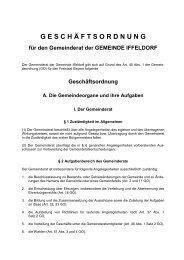 Geschäftsordnung 2008 - Gemeinde Iffeldorf