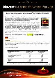 Produktinfos inkospor® X-TREME CREATINE Pulver