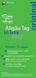 Flyer Allgäu Tag 07_2012_99x210.indd - in Isny im Allgäu