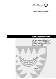 Bericht Jahresabschlussprüfung 2009 - Landeshauptstadt Kiel