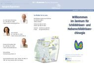 Infoflyer Schilddrüsenchirurgie - Klinikum Region Hannover GmbH