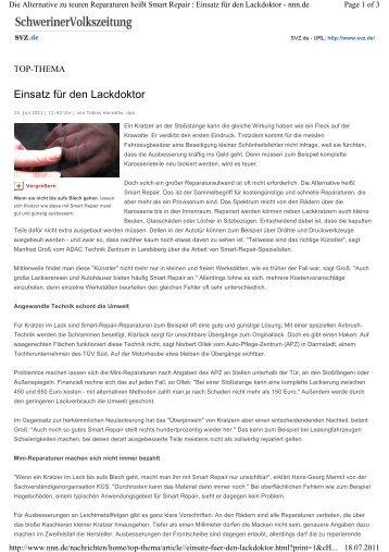 Schweriner Volkszeitung, 15.07.2011 - KÜS