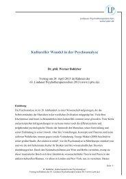 Kultureller Wandel in der Psychoanalyse (pdf) - Lindauer ...