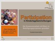 Die Zusammenarbeit mit Eltern in Beteiligungsprozessen gestalten