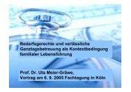 Vortrag von Frau Prof. Dr. Uta Meier-Gräwe, Justus Liebig ...