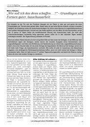Grundlagen und Formen guter Ausschussarbeit. Von Marco Szlapka