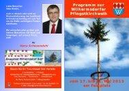 Programm zur Wilhermsdorfer Pfingstkirchweih vom 17. bis 21. Mai ...