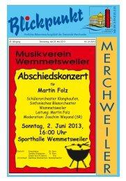 SC Wemmatia Wemmetsweiler - Gemeinde Merchweiler