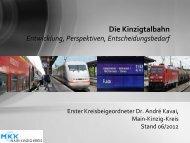Die Kinzigtalbahn - des Main-Kinzig-Kreises