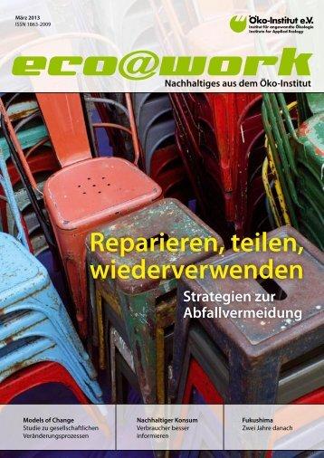 Reparieren, teilen, wiederverwenden - Öko-Institut eV