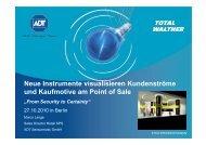 Neue Instrumente visualisieren Kundenströme und ... - ADT