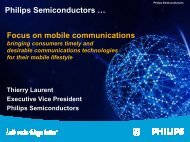 Philips Semiconductors … Focus on mobile communications