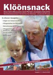 Seniorenmagazins Klöönsnack - Pflegebutler