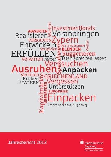 Geschäftsbericht - Stadtsparkasse Augsburg