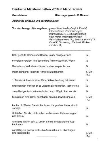 Kurzschrift deutsch