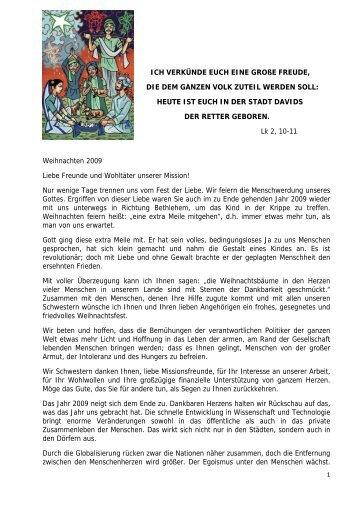 Bericht als PDF-Datei(105 KB) - Schwestern vom Heiligen Geist
