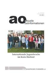 ao 1/2 2012 - Gesamteuropäisches Studienwerk e.V. (GESW)
