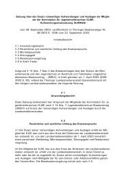 Satzung über den Ersatz notwendiger Aufwendungen und Auslagen ...
