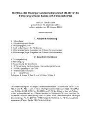 OK-Förderrichtlinie - Thüringer Landesmedienanstalt