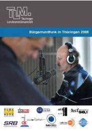Bürgerrundfunk in Thüringen 2008 - TLM