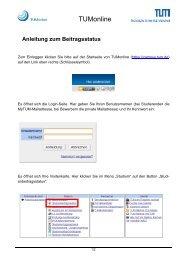 Anleitung zum Beitragsstatus
