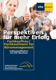Perspektiven für mehr Erfolg - Volkshochschule Bergheim