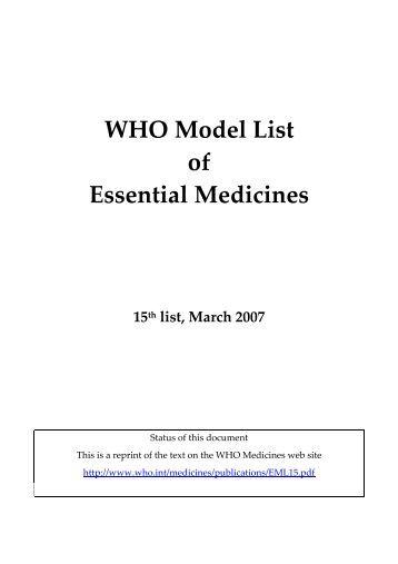 14th edition (March 2005) - World Health Organization