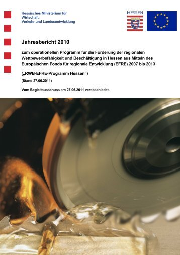 Jahresbericht 2010 - Hessisches Ministerium für Wirtschaft, Verkehr ...