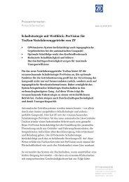 PreVision für ZF TraXon - ZF Friedrichshafen AG