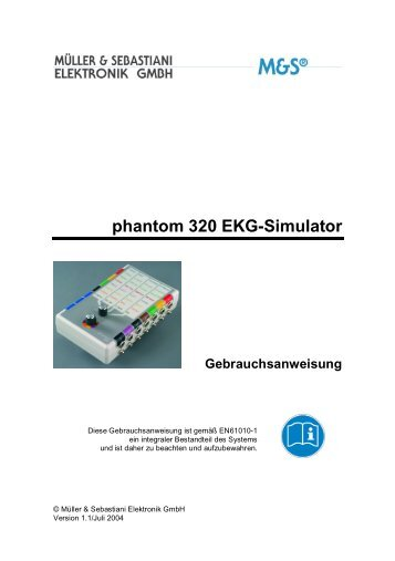phantom 320 EKG-Simulator - Gebrauchsanweisung - Helpi