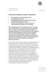 Pressetext herunterladen (PDF, 82 KB) - ZF Friedrichshafen AG
