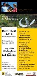 KulturZeit 2011 - ATTENTION Werbung Schramberg