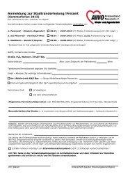 Anmelde- und Informationsunterlagen AWO Stadtranderholung 2013