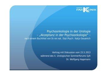 """Psychoonkologie in der Urologie - """"Akzeptanz in der ..."""