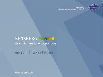 Bensberg GmbH Gutschriftsverfahren