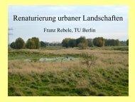 Renaturierung urbaner Landschaften