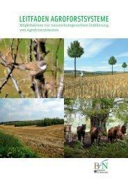 Leitfaden Agroforstsysteme, pdf - Bundesamt für Naturschutz