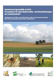 Gemeinsame Agrarpolitik ab 2014: Perspektiven für mehr ...