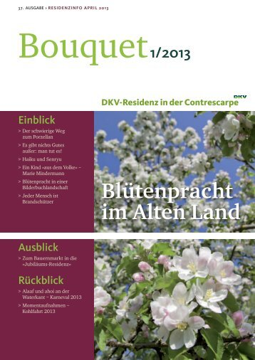 Bouquet Ausgabe - DKV-Residenz in der Contrescarpe