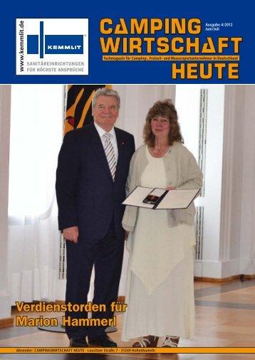 Verdienstorden für Marion Hammerl - Kontakte die sich rechnen