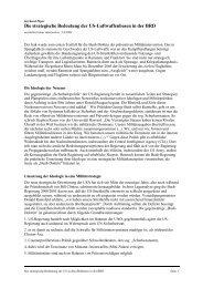 Die strategische Bedeutung der US-Luftwaffenbasen in der ... - BITS